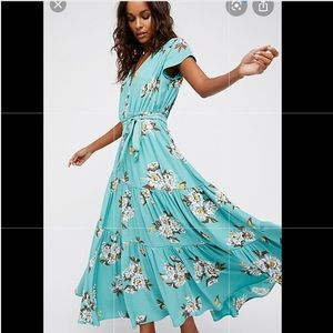 All I got printed floral maxi dress Free People